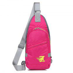 Nylon Zip Front Cross Body Bag