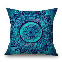 Mandala Decorative Linen Sofa Pillowcase - BLUE