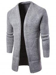 Ribbed Cuffs Sweater Cardigan