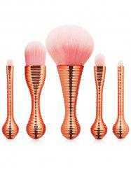 5Pcs Plating Waisted Face Makeup Brushes Set -