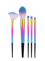5Pcs Ombre Tapered Handle Makeup Brushes Set -