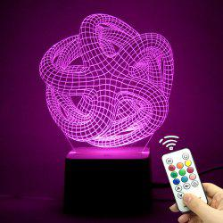 3D Geometric Remote Control Color Changing Night Light