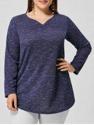 Space Dyed Longline Plus Size Blouse