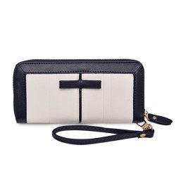 Bow Two Tone Clutch Wallet