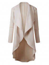 High Low Drape Duster Coat