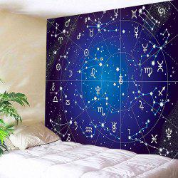 3D Constellation Galaxy Print Wall Tapestry