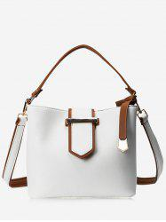 Metal Embellished Colour Block Tote Bag