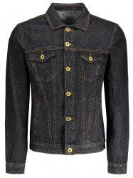 Men Pockets Denim Jacket