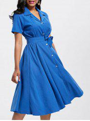 Maxi Short Sleeve Button Up Shirt Dress