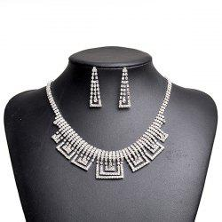Rhinestone Geometric Sparkly Jewelry Set -