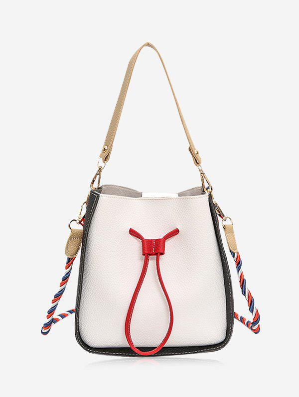 Affordable Drawstring Color Block Bucket Bag