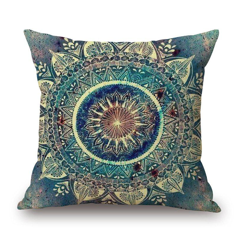 Mandala Decorative Linen Sofa PillowcaseHOME<br><br>Size: W17.5 INCH * L17.5 INCH; Color: COLORMIX; Material: Cotton Linen; Pattern: Mandala; Style: Ethnic; Shape: Square; Weight: 0.2000kg; Package Contents: 1 x Pillowcase;