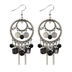Beaded Dreamcatcher Pendant Fish Hook Earrings