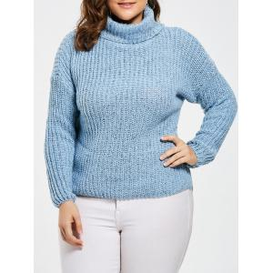 Chunky Knit Plus Size Turtleneck Sweater