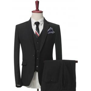 One Button Slim Fit Balzer Three-Piece Suit
