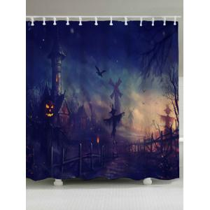 Waterproof Halloween Graphic Shower Curtain