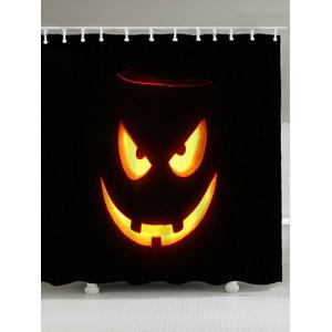 Halloween Graphic Waterproof Shower Curtain - Black - W71 Inch * L71 Inch