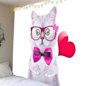 Waterproof Cute Cat Pattern Wall Hanging Tapestry