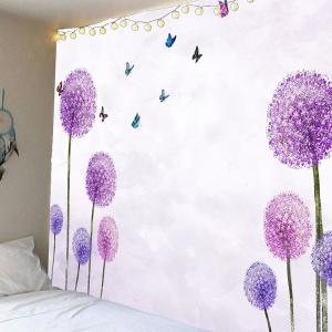 Dandelion Butterfly Pattern Waterproof Wall Art Tapestry