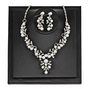 Branches and Leaves Faux Pearl Jewelry Set