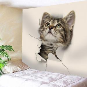 Wall Art Decorative 3D Cat Print Tapestry