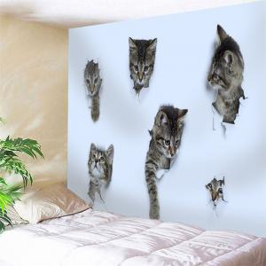 Wall Hanging 3D Wall Broken Cat Tapestry