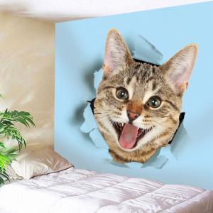 Cat Cloth Broken Printed Wall Art Tapestry