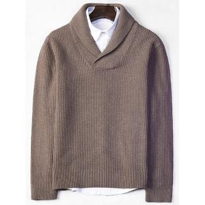 Shawl Collar Pullover Chunky Sweater
