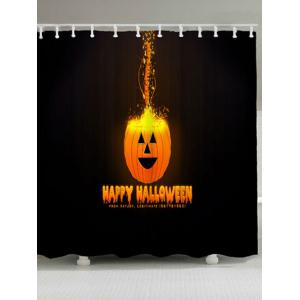 Happy Halloween Jack O Lantern Bath Curtain