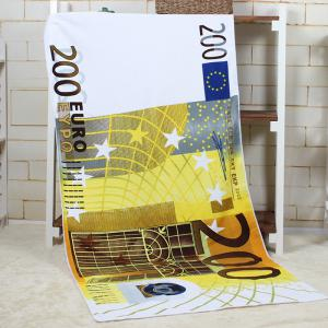 200 Euro Note Pattern Water Absorption Bath Towel