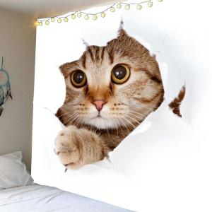 Waterproof 3D Cat Printed Wall Hanging Tapestry