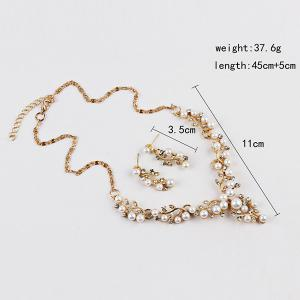 Branches and Leaves Faux Pearl Jewelry Set -