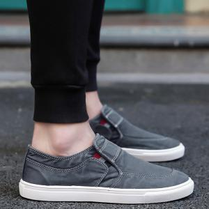 Slip On Elastic Band Canvas Shoes - BLUE GRAY 43