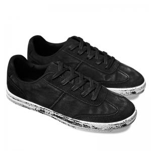 Low Top Lace Up Casual Shoes - Black - 44