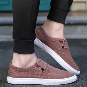 Slip On Elastic Band Canvas Shoes - BRICK-RED 43