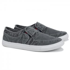 Slip On Elastic Band Canvas Shoes - Gray - 40