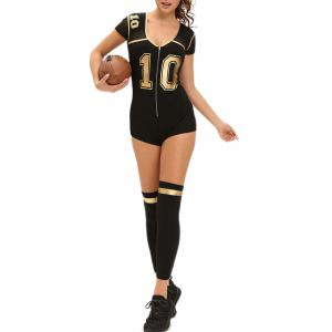 Football Halloween Costume - BLACK S