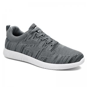 Breathable Pinstripe Casual Shoes - Deep Gray - 40