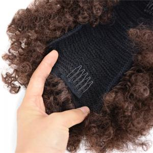 Large Fluffy Afro Curly Heat Resistant Synthetic Bun Chignon -