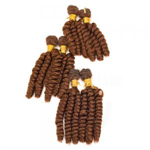 6Pcs Long Spiral Twisted Braids Hair Weaves -