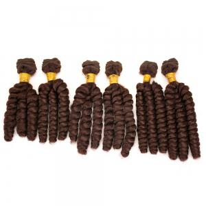6Pcs Long Spiral Twisted Braids Hair Weaves - Dark Auburn Brown