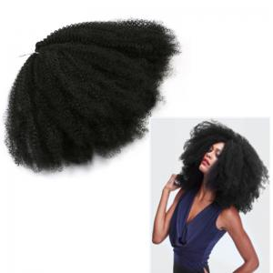 Long Fluffy Afro Kinky Curly Synthetic Hair Weave