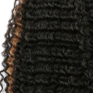 Short Deep Wave Colormix Synthetic Hair Weaves -