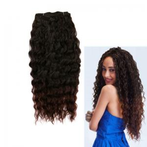 Long Shaggy Deep Weave Heat Resistant Synthetic Hair Weaves - Natural Black