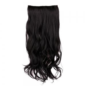 Long Clip In Slightly Curly Hair Extension -