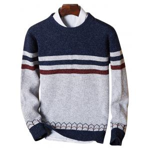 Color Block Crew Neck Stripe Jumper