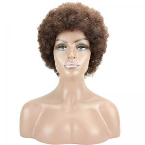 Short Fluffy Afro Curly Heat Resistant Synthetic Wig