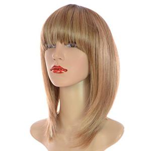 Short Full Bang Colormix Straight Bob Synthetic Wig