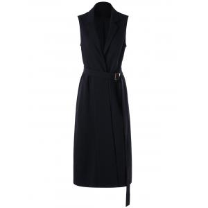 Sleeveless Work Formal Lapel Blazer Dress