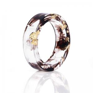Vintage Dry Flower Transparent Resin Ring